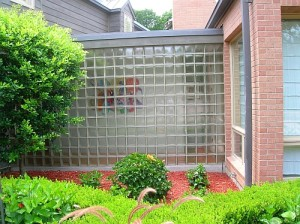 picture of glass block wall
