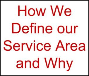 People have had questions about how we derived our service area. Answer is here.