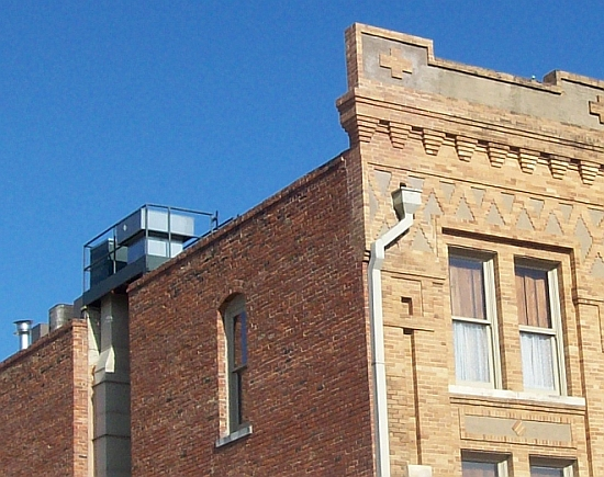 Stockyard Hotel Brick Parapet after Repairs