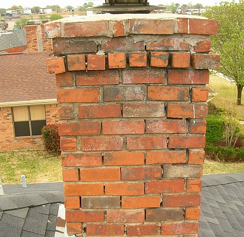 Get help with Brick chimneys & fireplaces. Free estimates. We repair masonry & deteriorated mortar