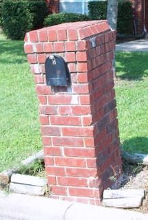 A leaning brick mailbox almost always points to a faulty foundation.