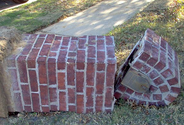 Information for Rebuilding or Repairing Damaged or Deteriorated Brick Mailboxes