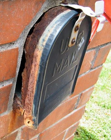 Thin mail inserts wear out and become a serious problem with a brick mailbox.