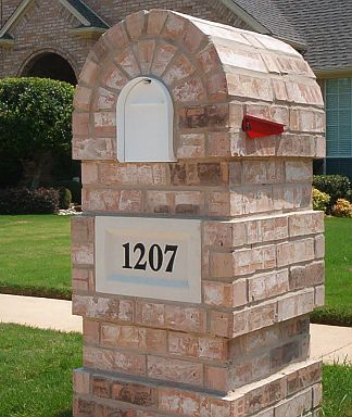 Precision Brick Cuts Look Great in this Brick Mailbox