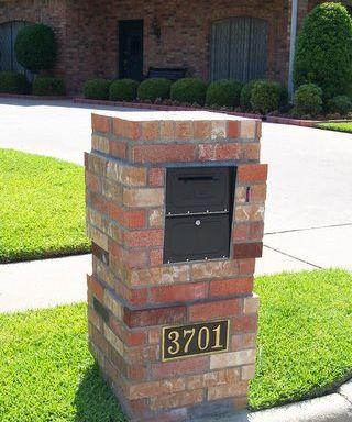 Brick Mailbox Street Number Options Brick Doctor